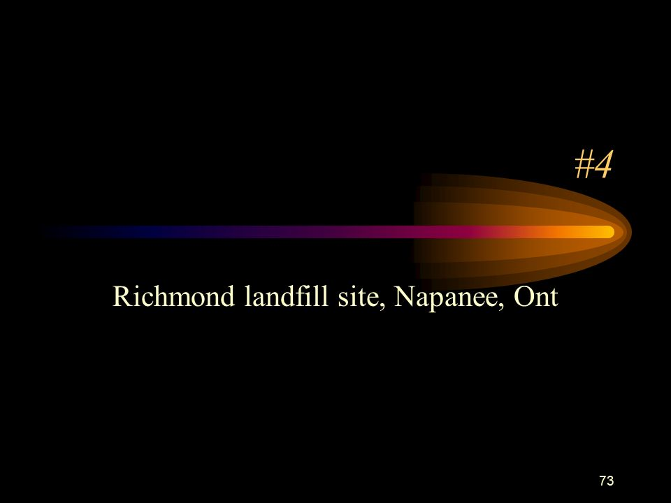 73 #4 Richmond landfill site, Napanee, Ont