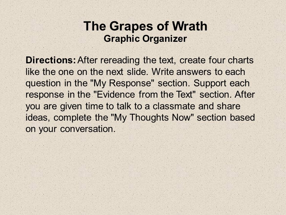 theme of grapes of wrath essay Read this literature essay and over 88,000 other research documents themes in the grapes of wrath themes in the grapes of wrath the joads are on.