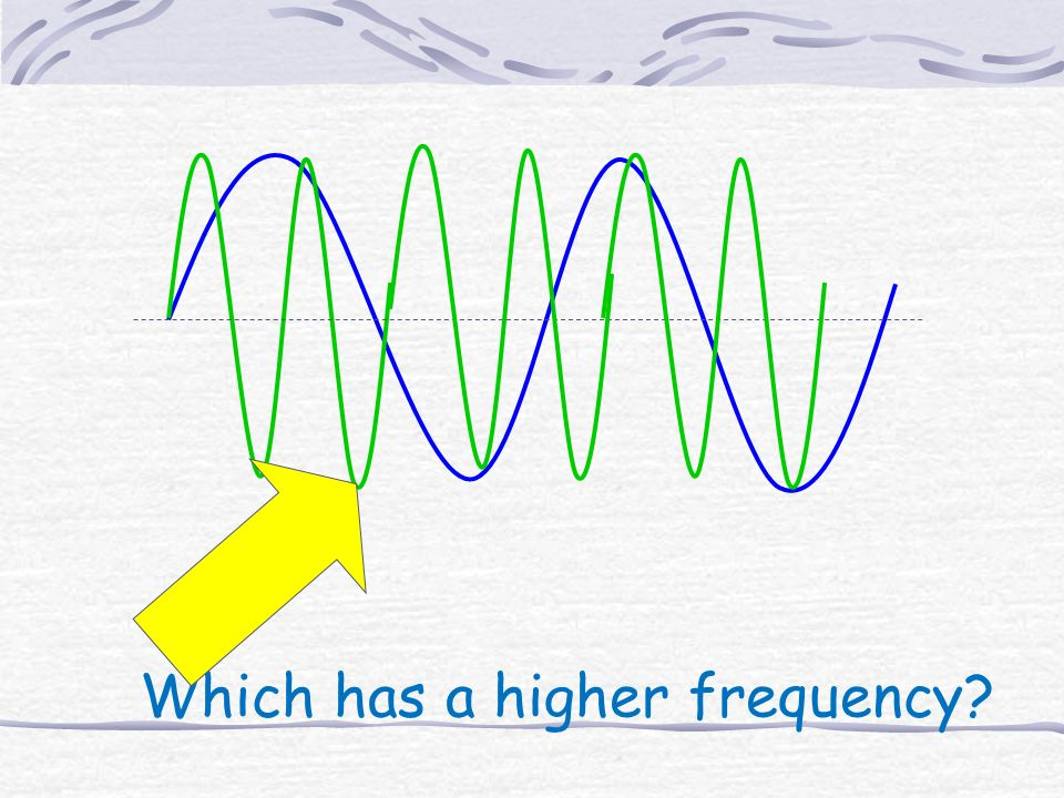 Which has a higher frequency