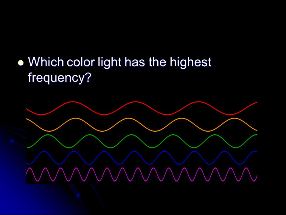 Which color light has the highest frequency Which color light has the highest frequency