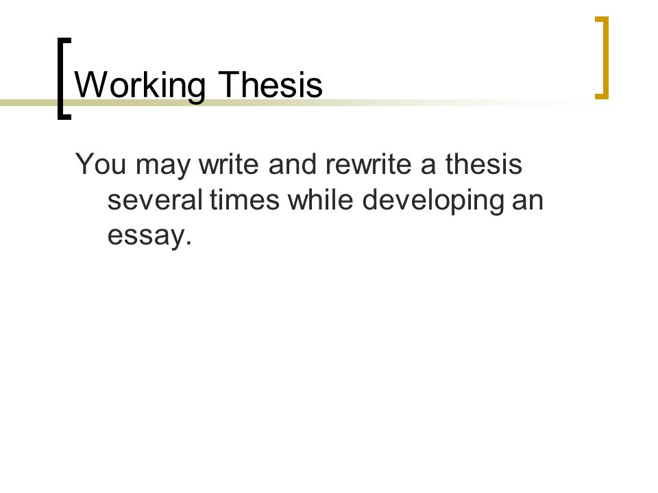 Thesis Stament