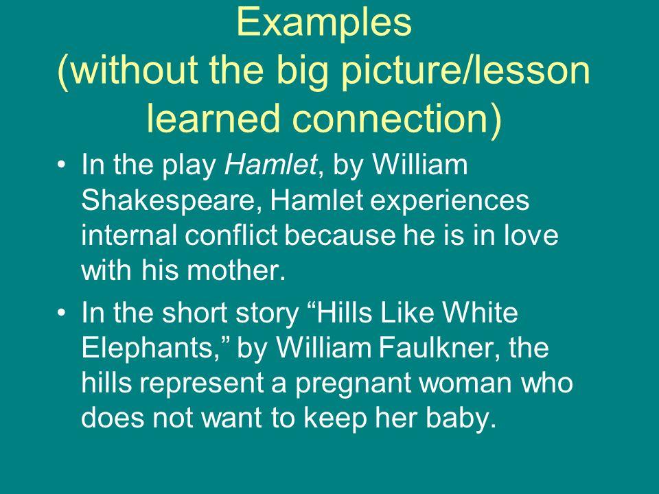 literary analysis of hills like white