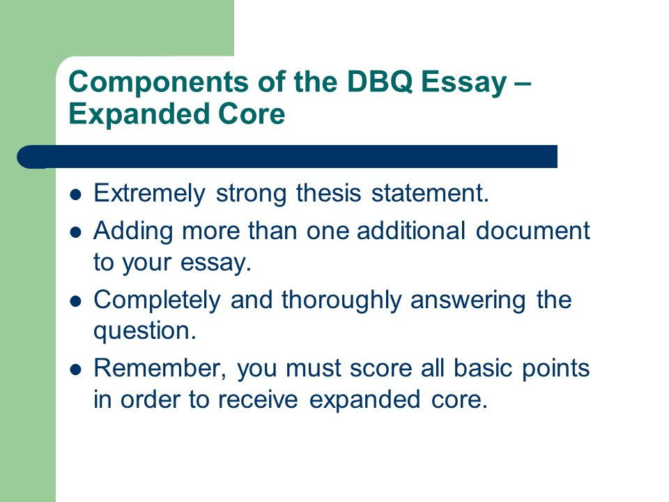 Art comparison essay thesis Image titled Write a DBQ Essay Step