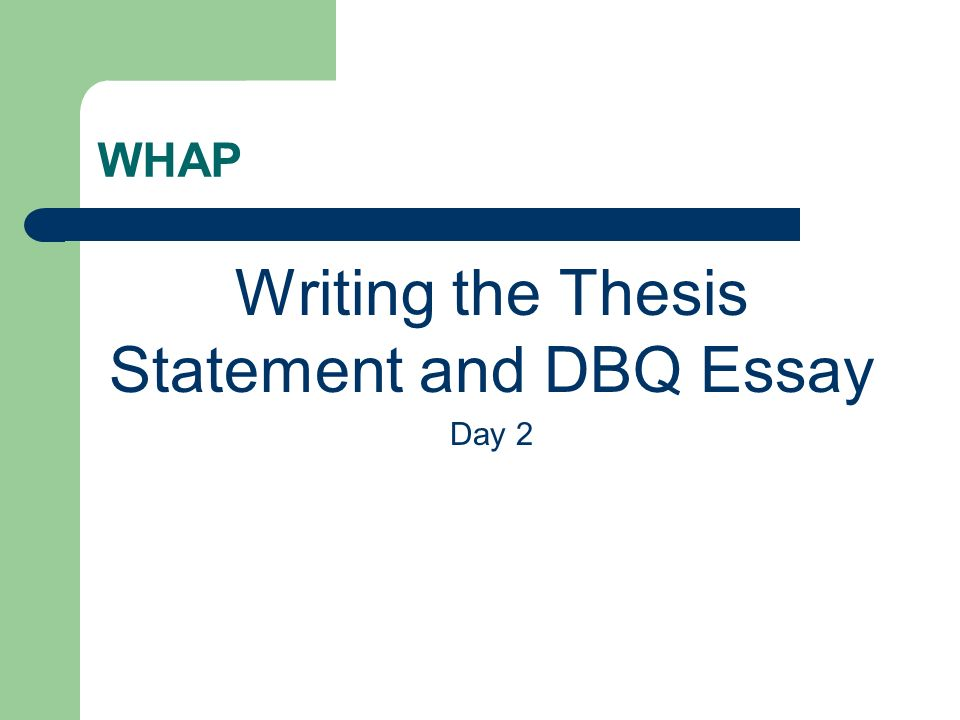 activity statement thesis