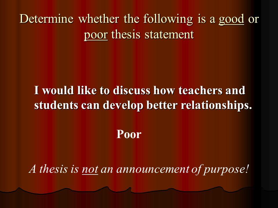 Thesis statement on teenage pregnancy