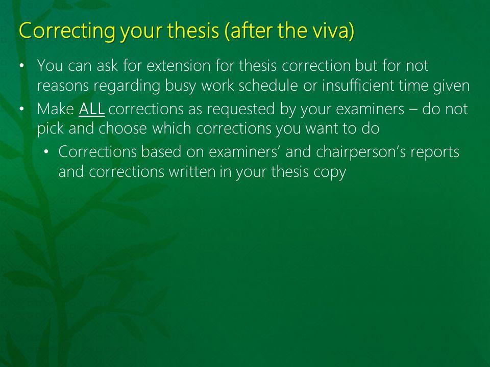 Phd thesis major corrections