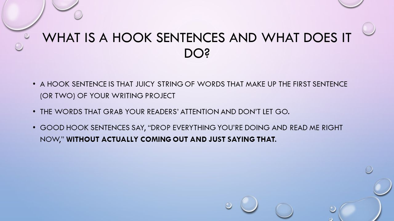 essay congratulations you just won what are you what is a hook sentences and what does it do
