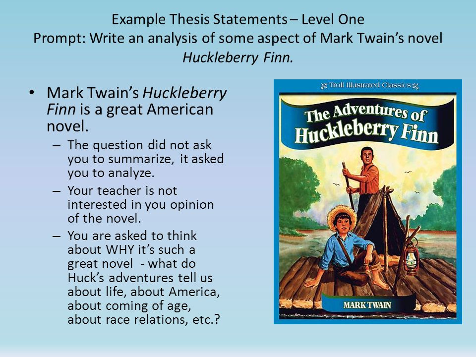 Huck Finn thesis...can you help?