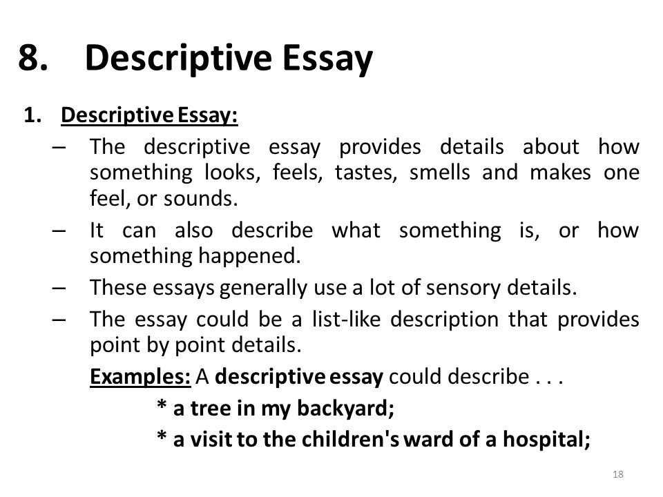 discripted essay Students cannot underestimate the structure of descriptive essay because it is vital part of any writing academic course we help write professional essays.