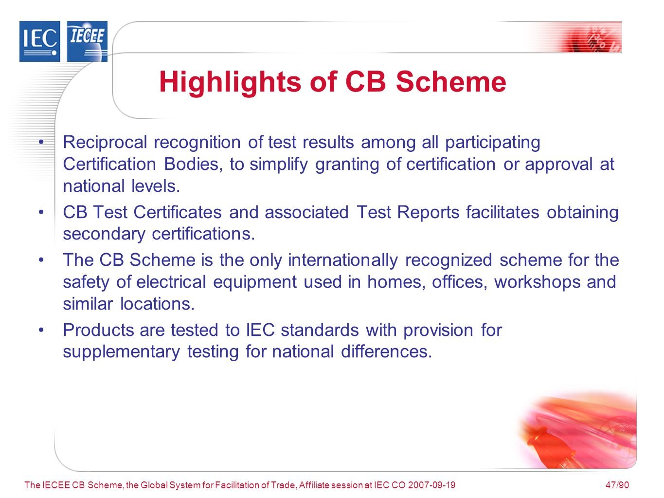 The iecee cb scheme the global system for facilitation of trade 47 the 1betcityfo Choice Image
