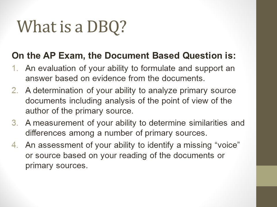 Cool DBQ Topics for a Project?