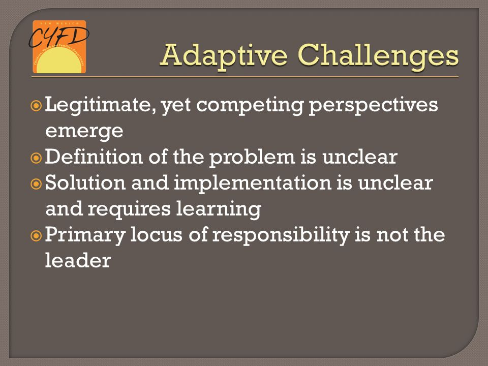 14  Legitimate, Yet Competing Perspectives Emerge  Definition Of The  Problem Is Unclear  Solution And Implementation Is Unclear And Requires  Learning ...