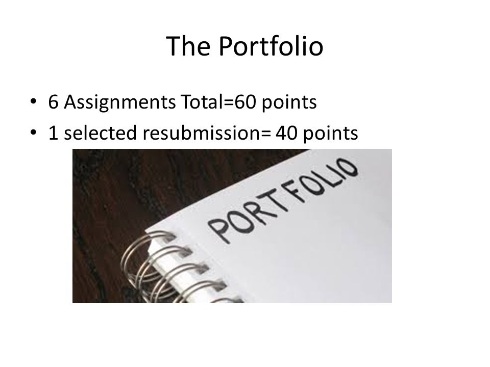 What does it mean to write essay on your portfolio?
