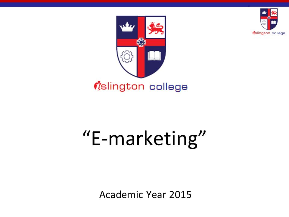 E-marketing Academic Year 2015