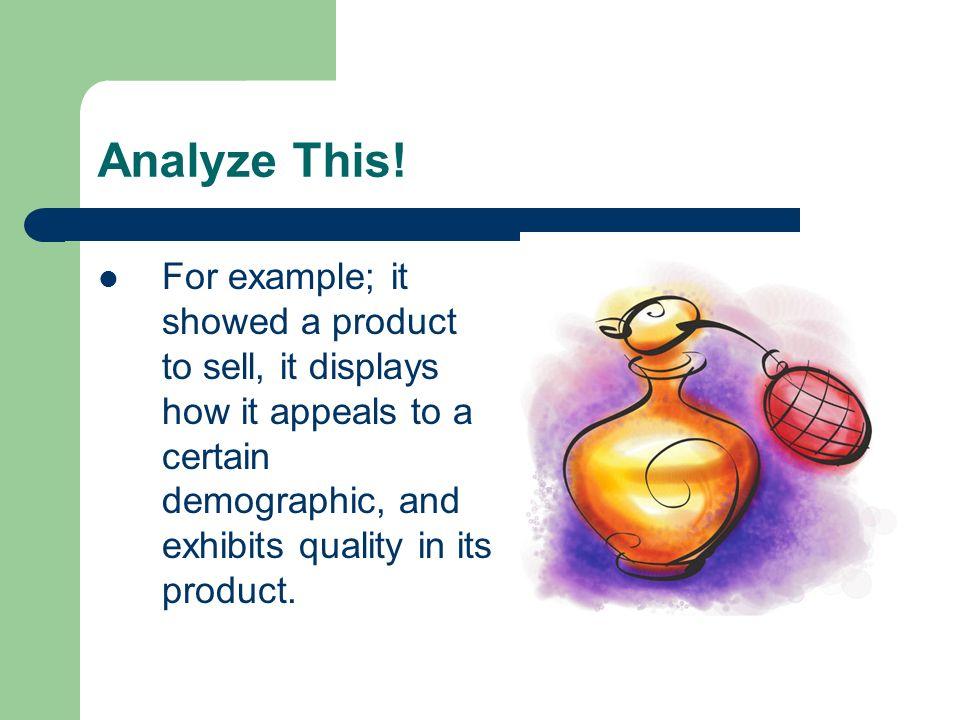 analysis of an advert essay