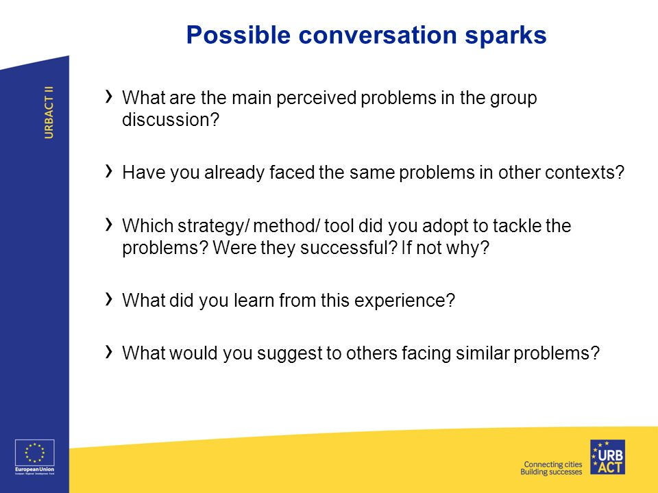 Possible conversation sparks › What are the main perceived problems in the group discussion.