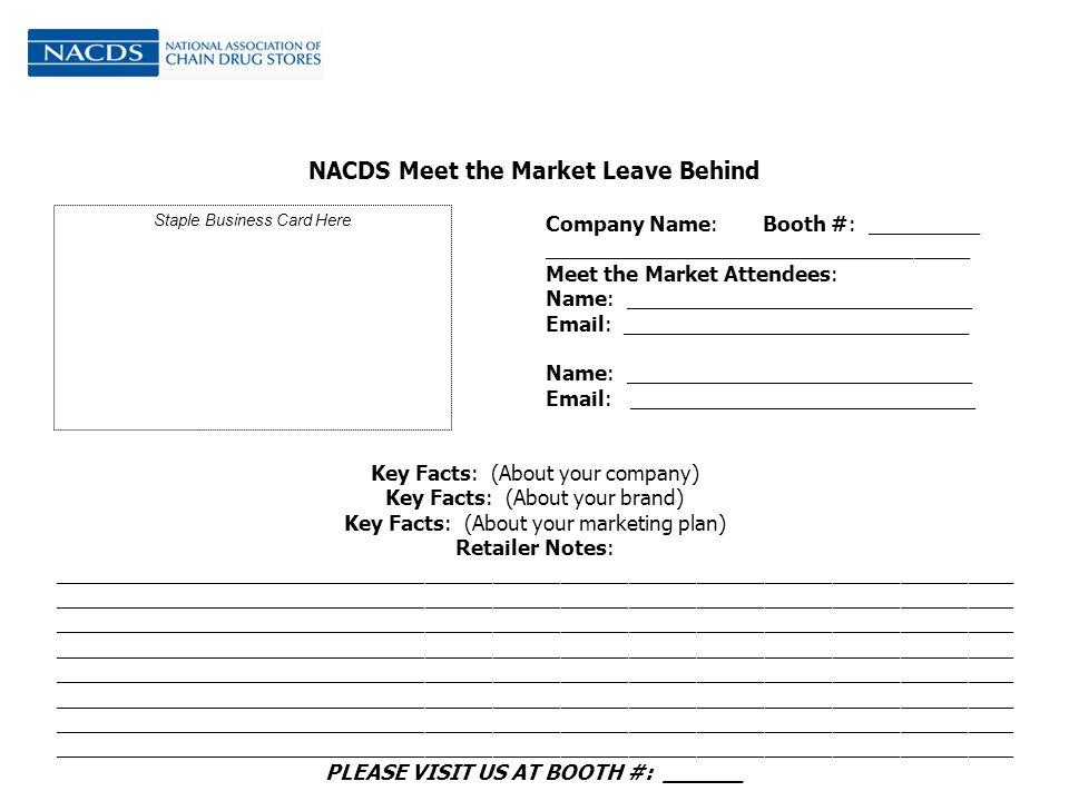 Meet the Market Presentation. Agenda Meet the Market Overview ...