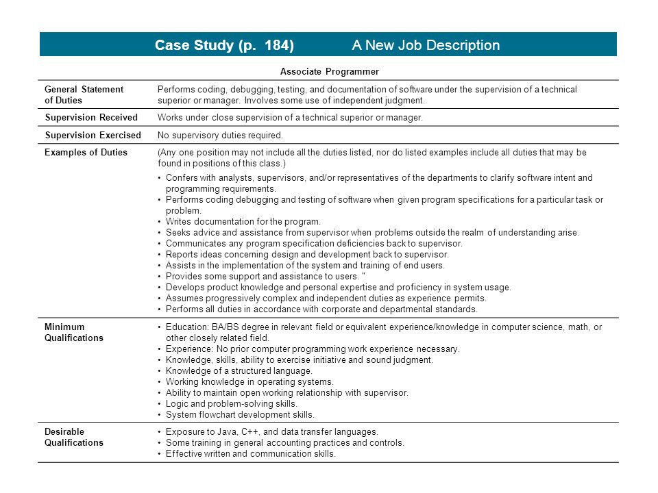 Job Analysis Employer And Employee Perspectives. Strategic