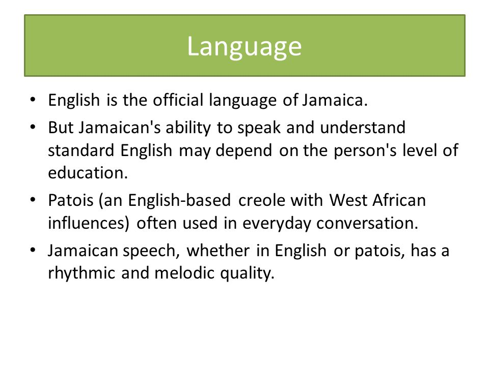 Jamaica Maps Thecommonwealthorg Facts And Figures Kingston Is The - What is the official language of jamaica
