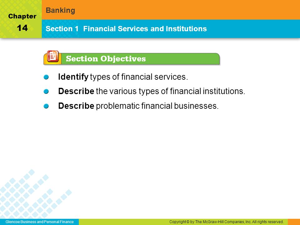 Glencoe Business and Personal FinanceCopyright © by The McGraw-Hill Companies, Inc.