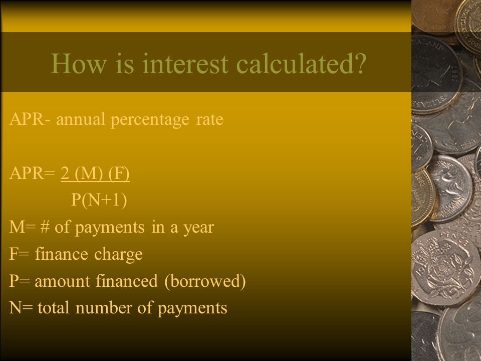 How is interest calculated.