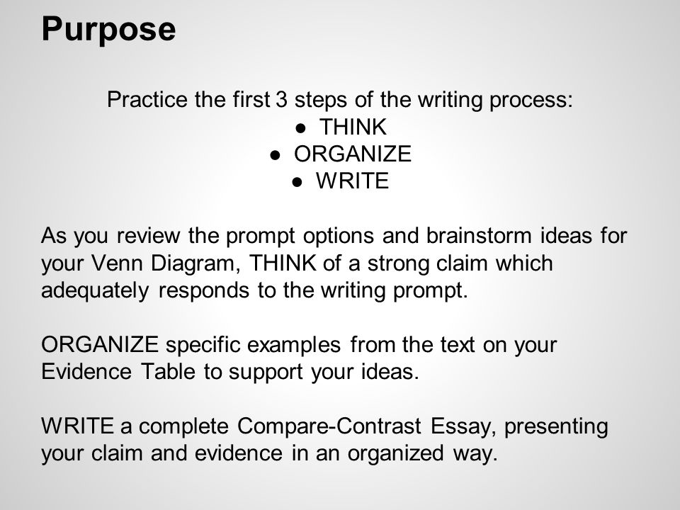 the giver in class writing assessment through the various  purpose practice the first 3 steps of the writing process ○think ○organize ○