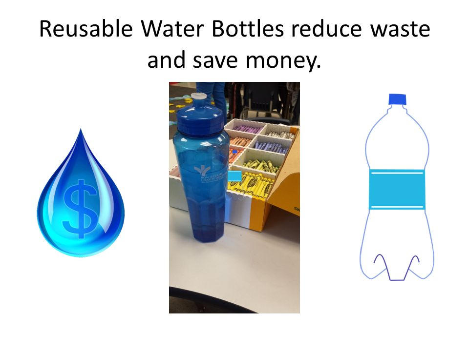 Reusable Water Bottles reduce waste and save money.
