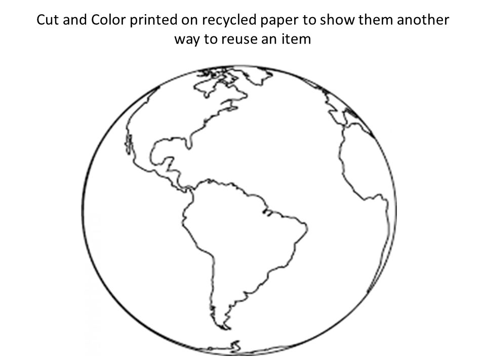 Cut and Color printed on recycled paper to show them another way to reuse an item