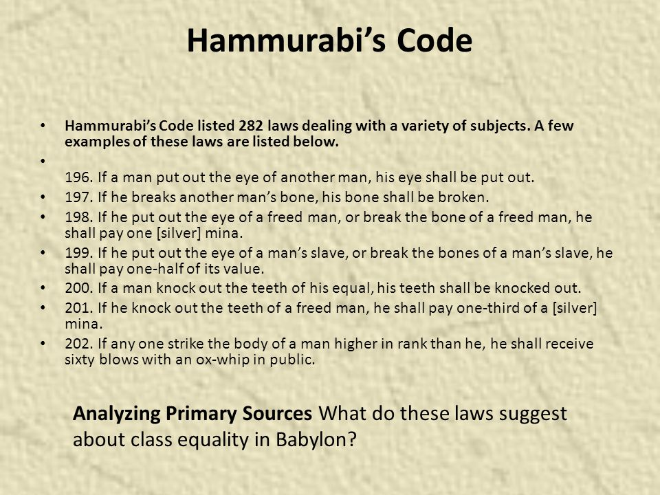 code of hammurabi how women werent treated equally  code of hammurabi essays