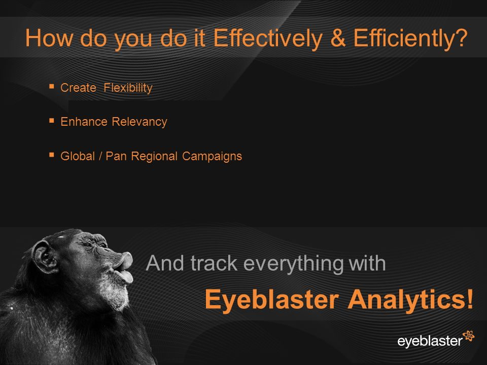 © 2008 Eyeblaster. All rights reserved How do you do it Effectively & Efficiently.