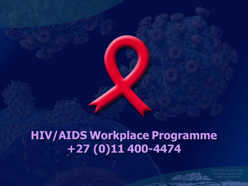HIV/AIDS Workplace Programme +27 (0)