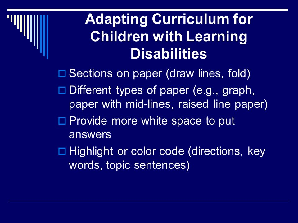 learning disabilities 4 essay Essays related to students with disabilities 1 children with a learning disability will display an the idea of having students with disabilities in the.