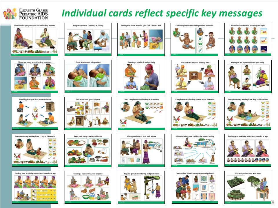Individual cards reflect specific key messages