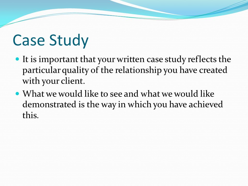 How To Write Case Study Essay