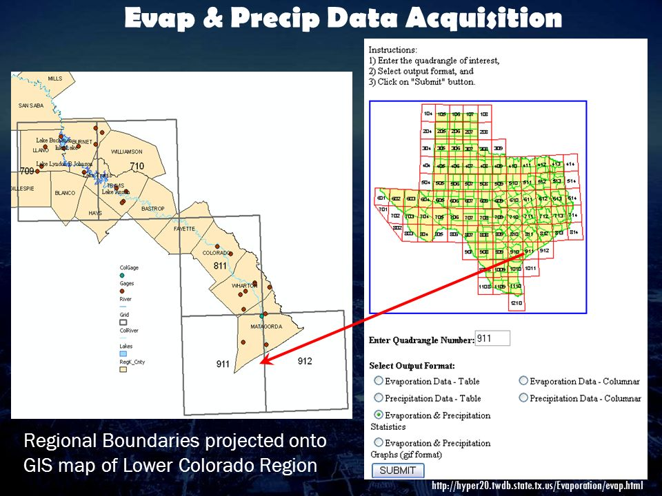 Comparing The Storage Efficiencies Of The Highland Lakes And The - Us evaporation map