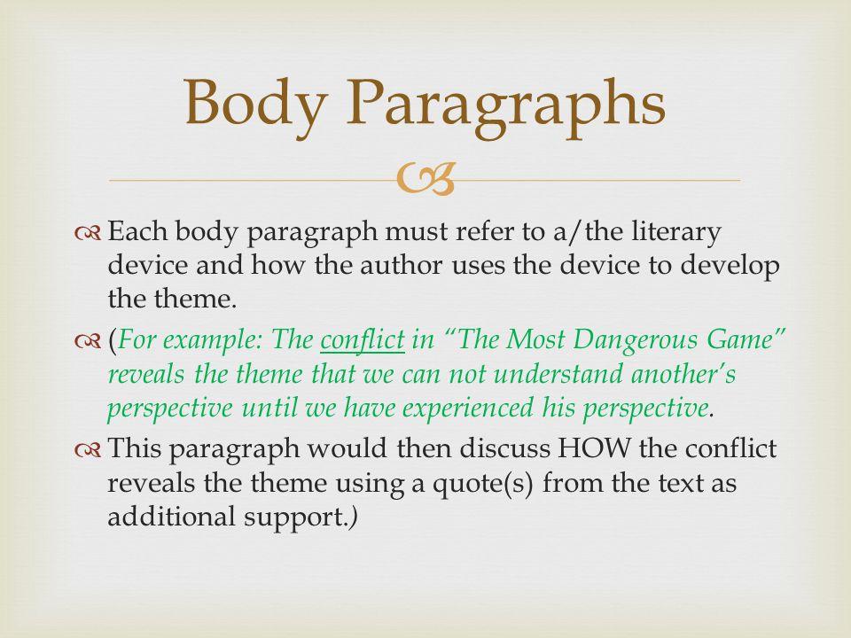 Literary analysis essays