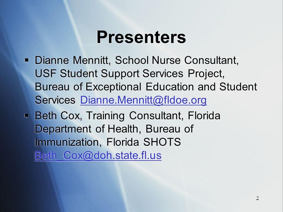 School Immunization Update FAMIS Conference, Tallahassee, FL June ...