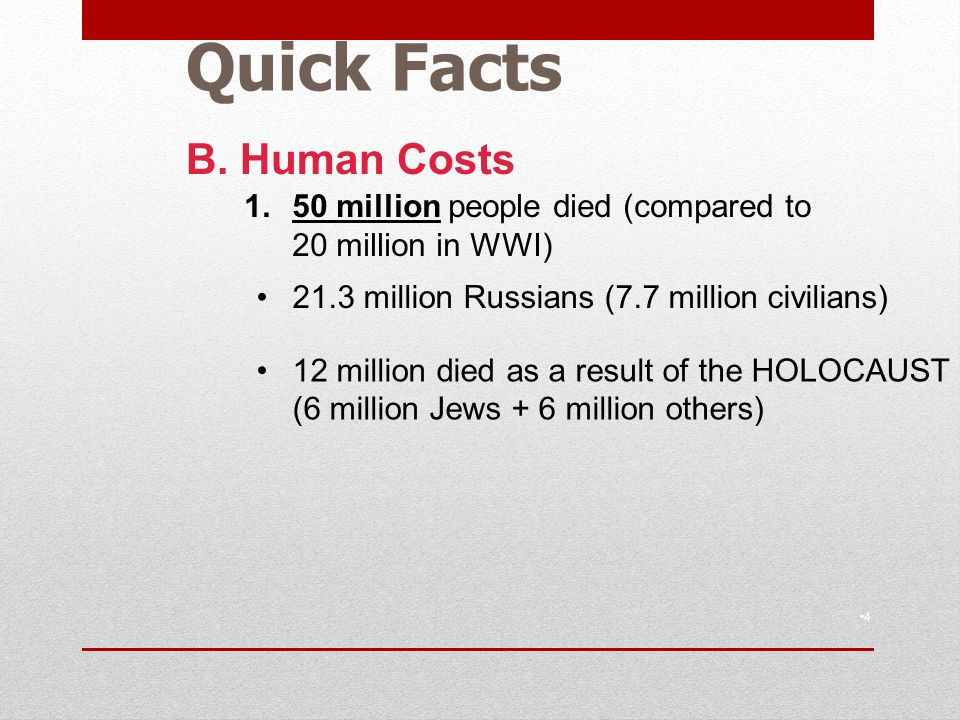 Quick Facts 4 B.