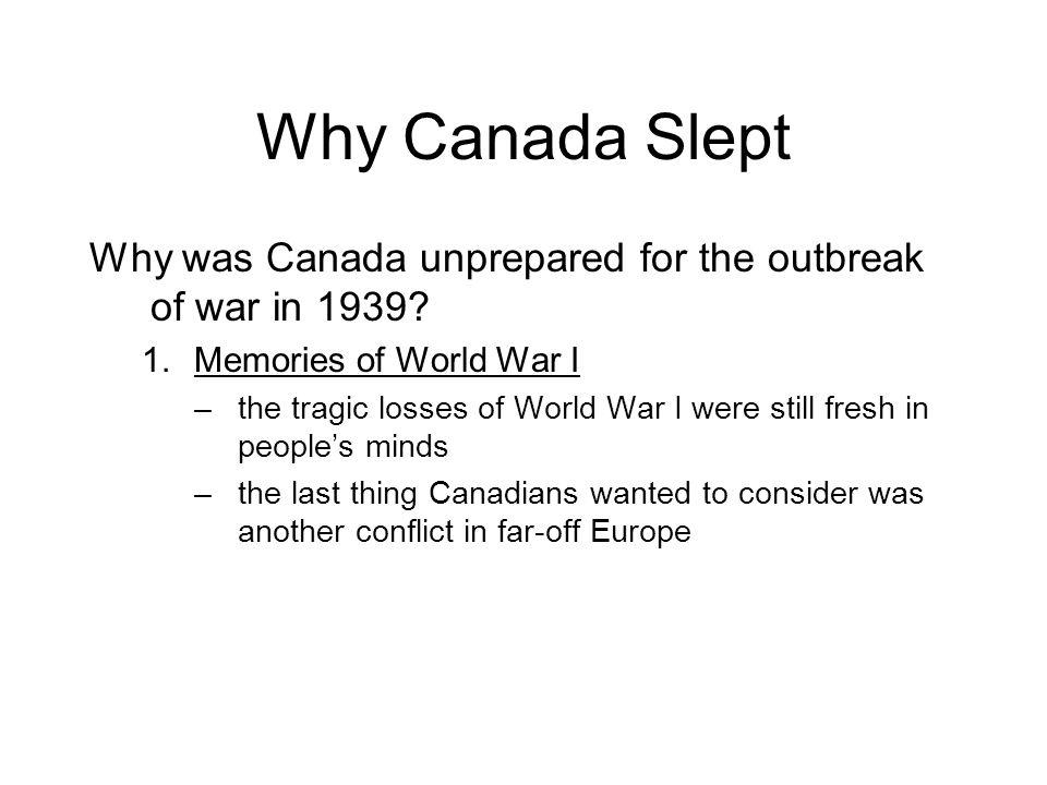 How did conscription make Canada unprepared for WWII?