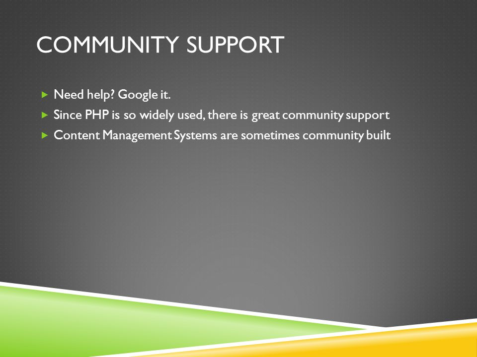 COMMUNITY SUPPORT  Need help. Google it.