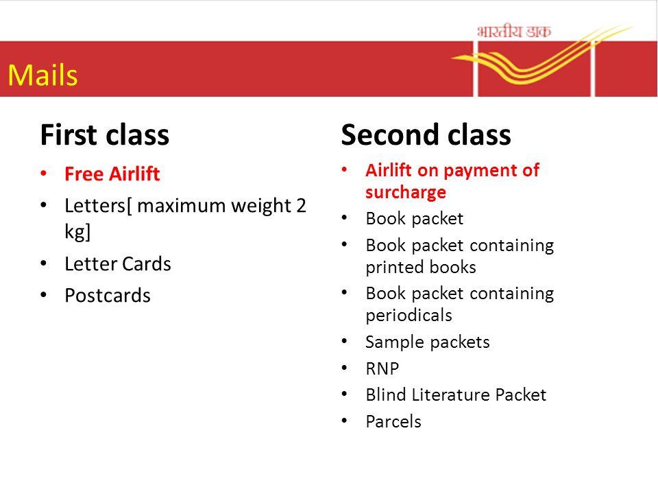 4 mails first class
