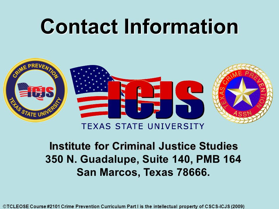 Contact Information 350 N. Guadalupe, Suite 140, PMB 164 San Marcos, Texas 78666.