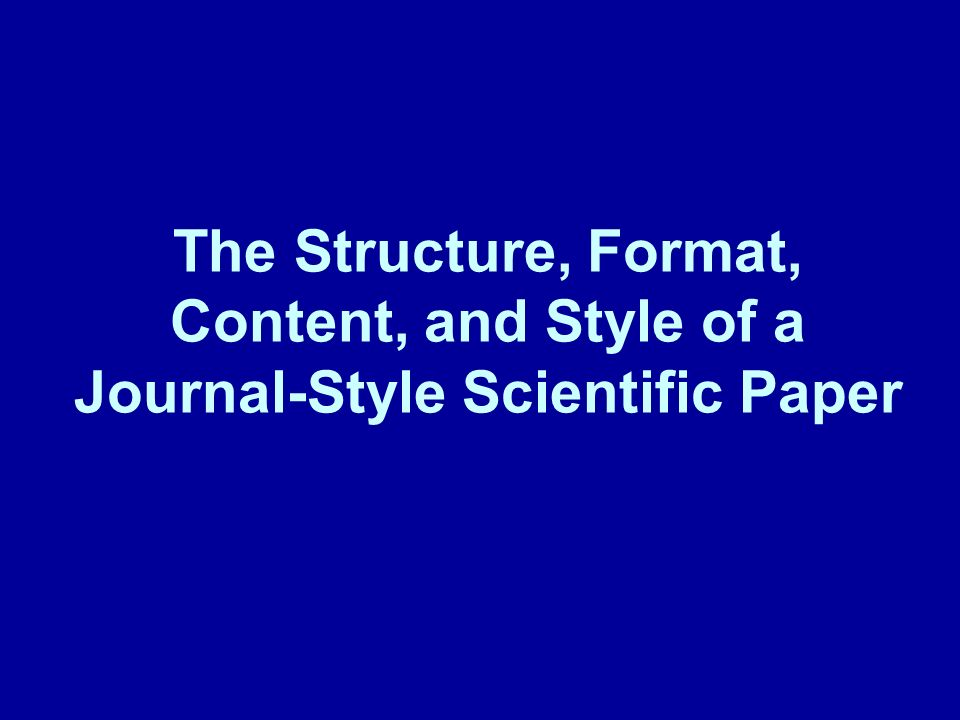 How to write medical paper