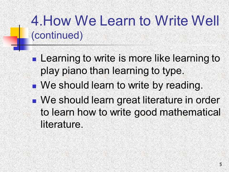 How hard is it to learn to write well?