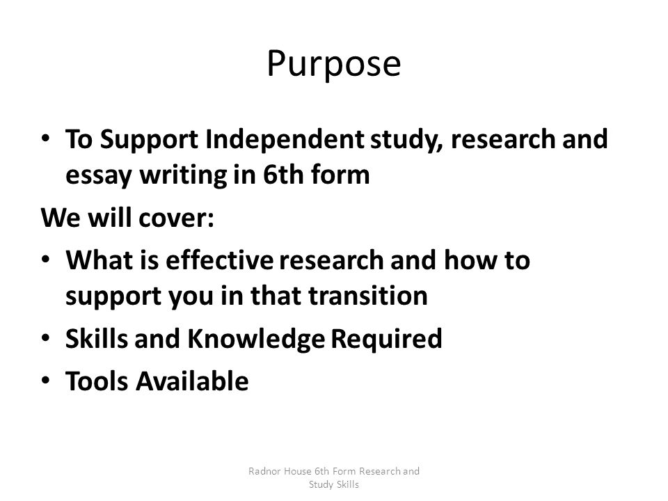 What is the purpose of research in essay writing?