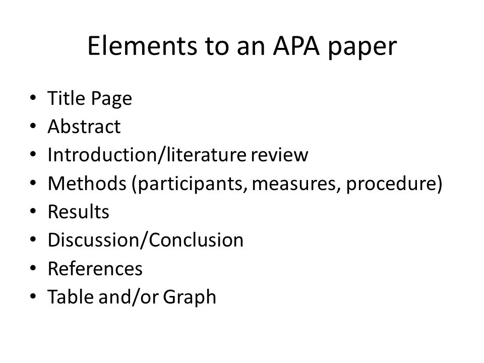 Apa lit review