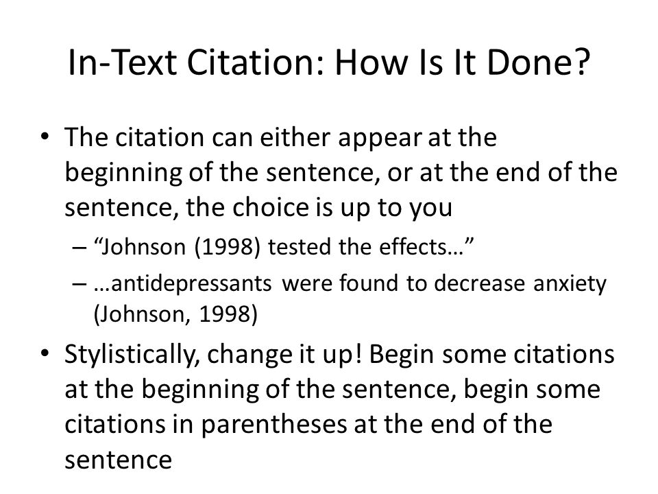 Apa end of text citation
