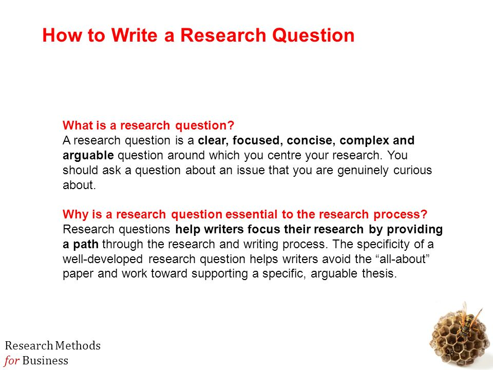 Developing A Research Question Dissertation