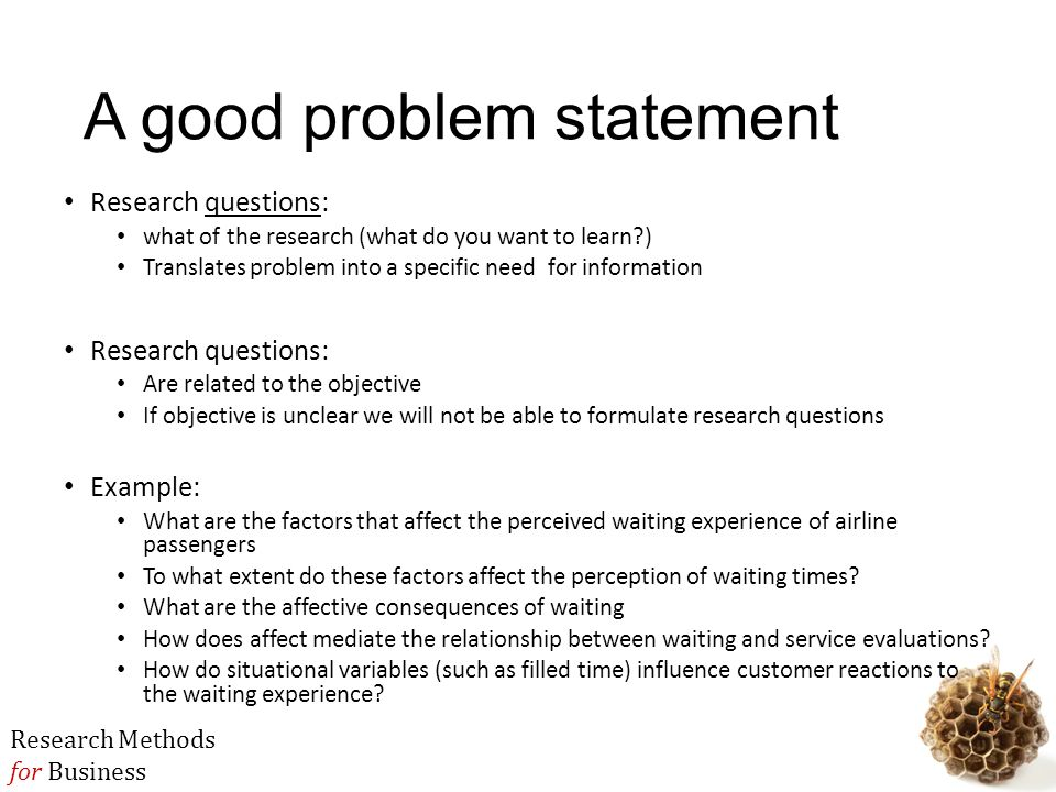 Thesis problem statement