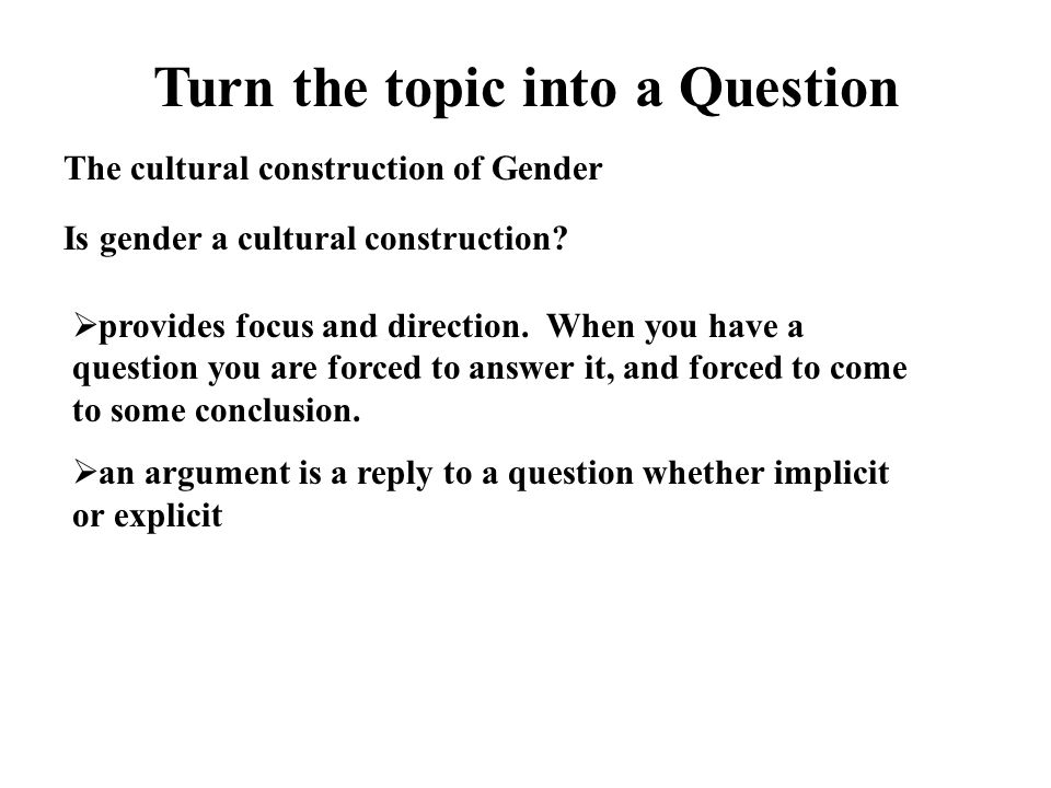 an introduction to the cultural construction of gender